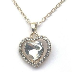 Heart necklace gold fashion jewelry gift 18 inches